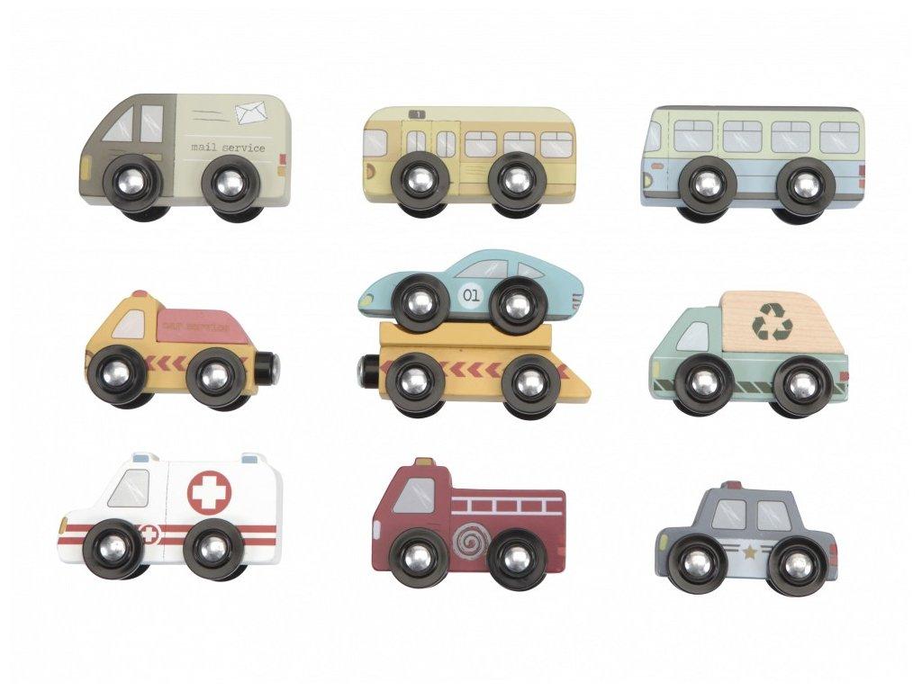 Sada záchranných a užitkových autíček pro děti