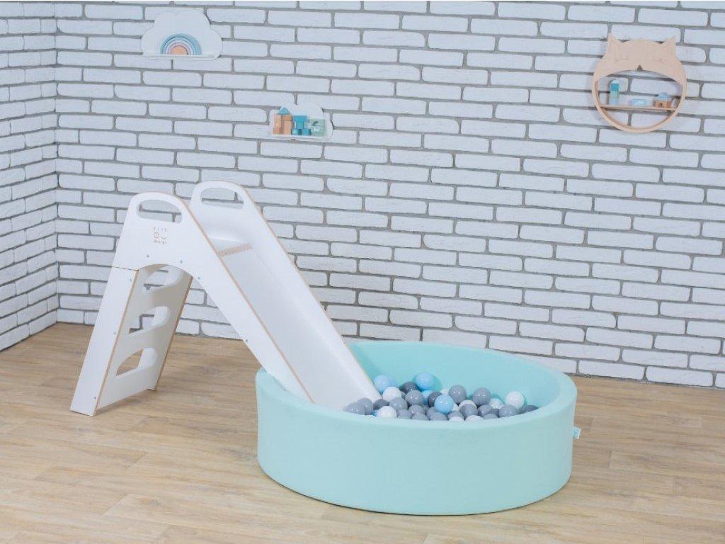 dětský suchý bazének se skluzavkou