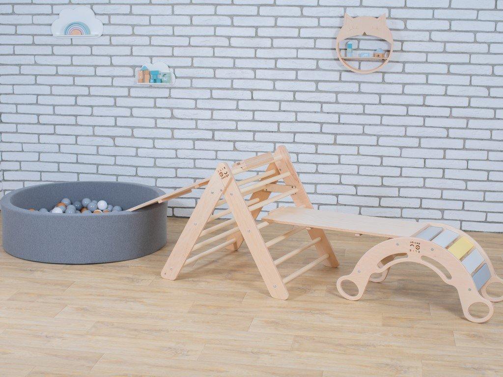 dětský suchý bazének s prvky montessori