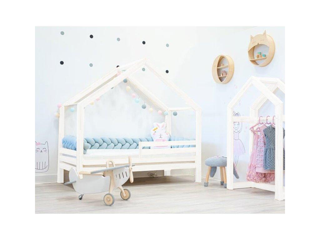 zabradli moderni a kvalitni domeckova postel pro deti s volitelnou zabranou premium
