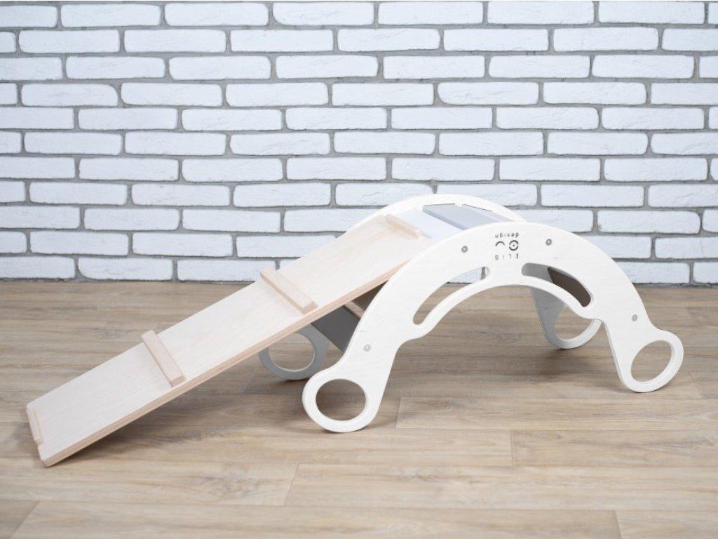 montessori bílá houpačka s prknem