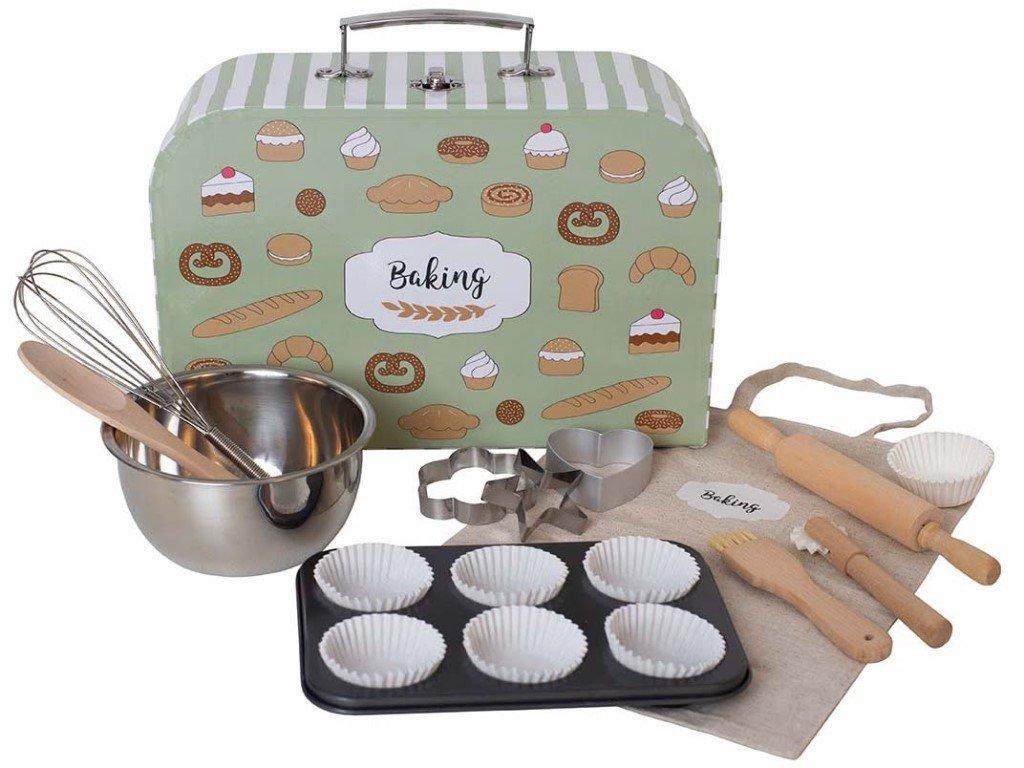 Krásná a originální sada na pečení v kufříku pro děti