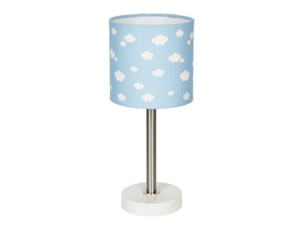 Lampička do dětského pokojíčku - modrá s obláčky