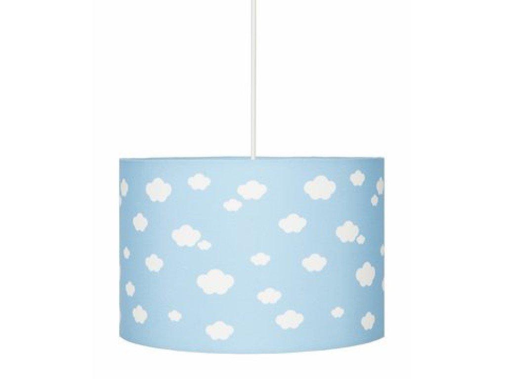 Dětské stropní svítidlo do dětského pokoje modré s bílými obláčky
