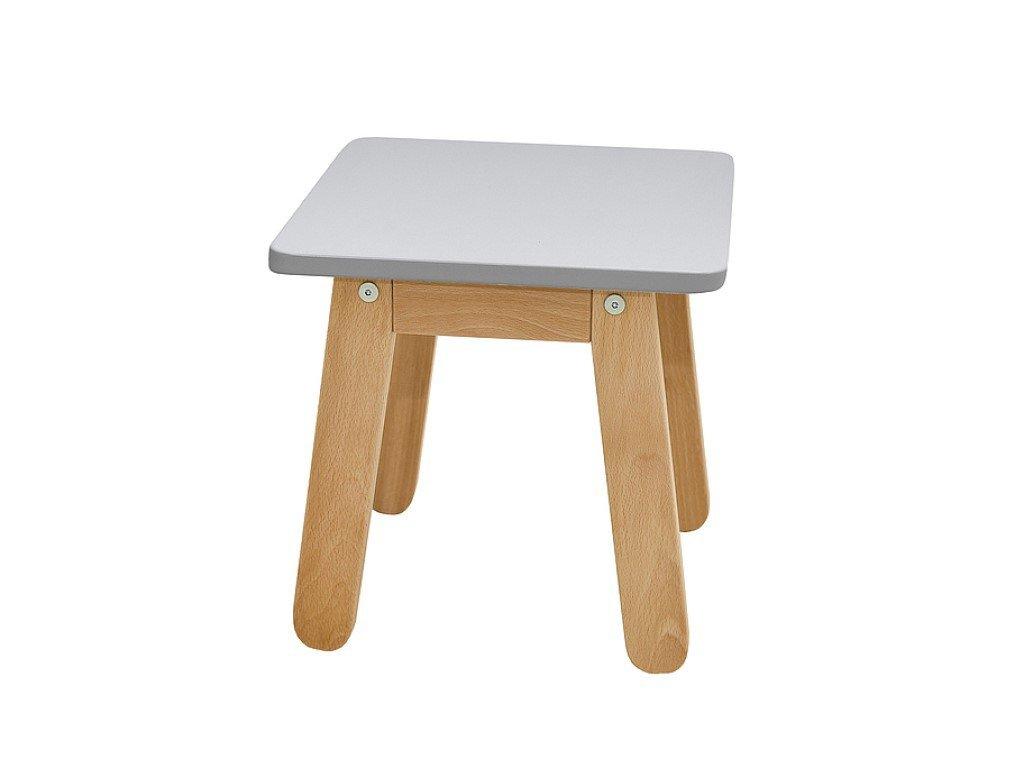 Pevná dětská stolička šedá