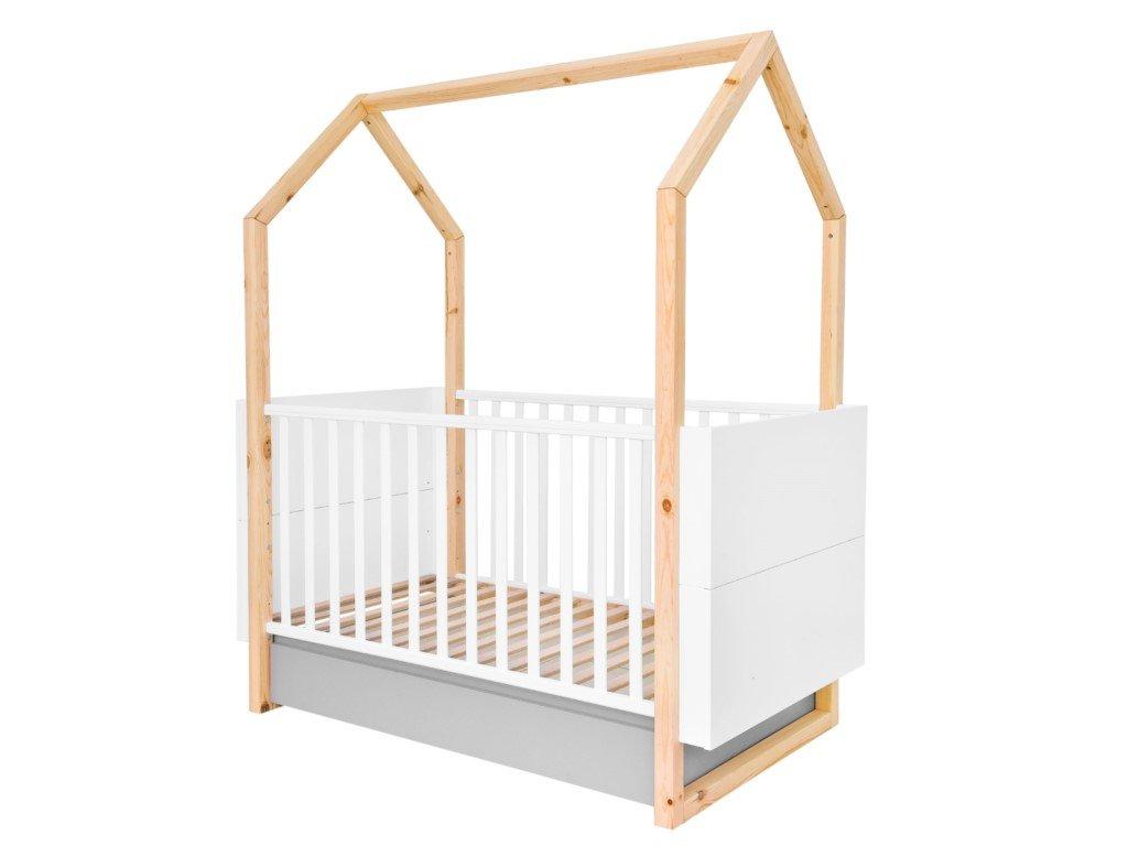 Kvalitní dětská domečková postýlka 2v1
