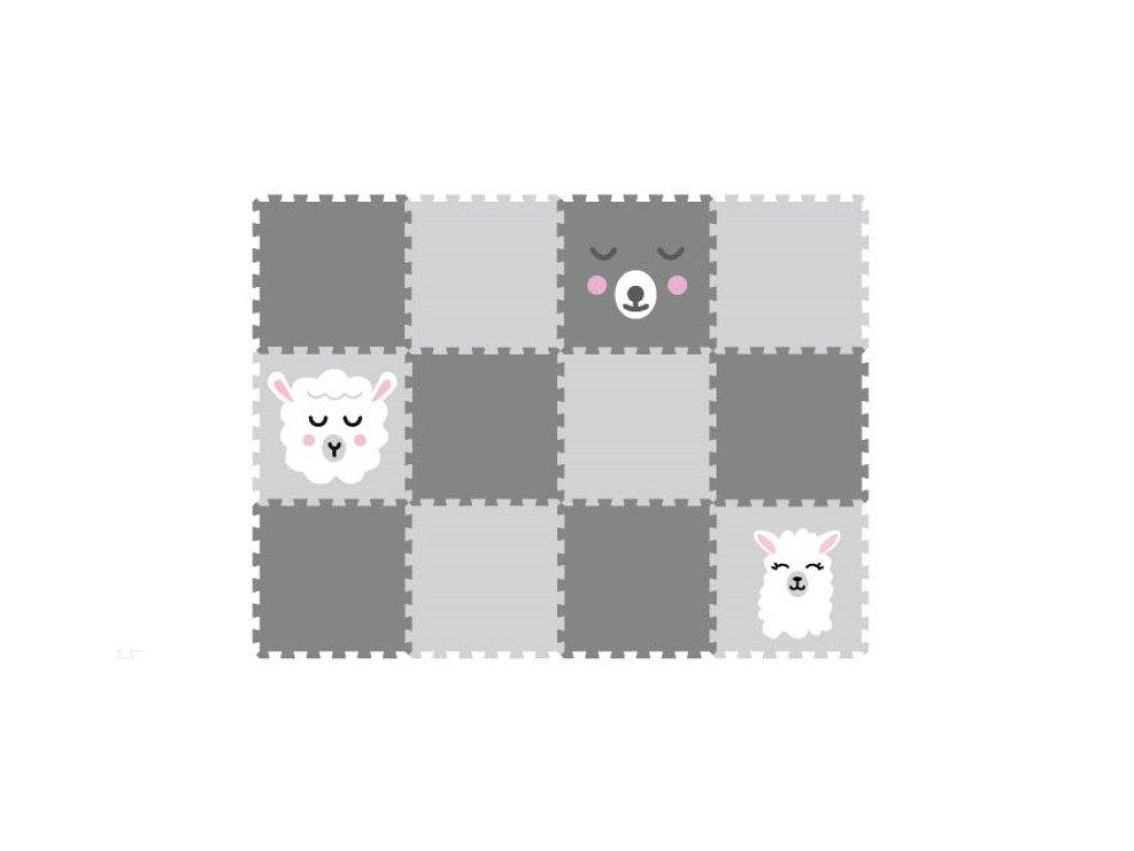 Pěnová puzzle podlaha do dětského pokoje se zvířátky