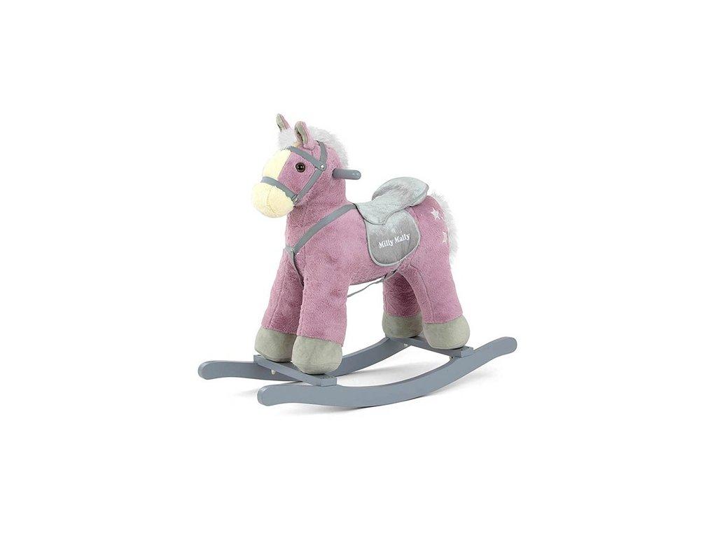 Fialový houpací kůň
