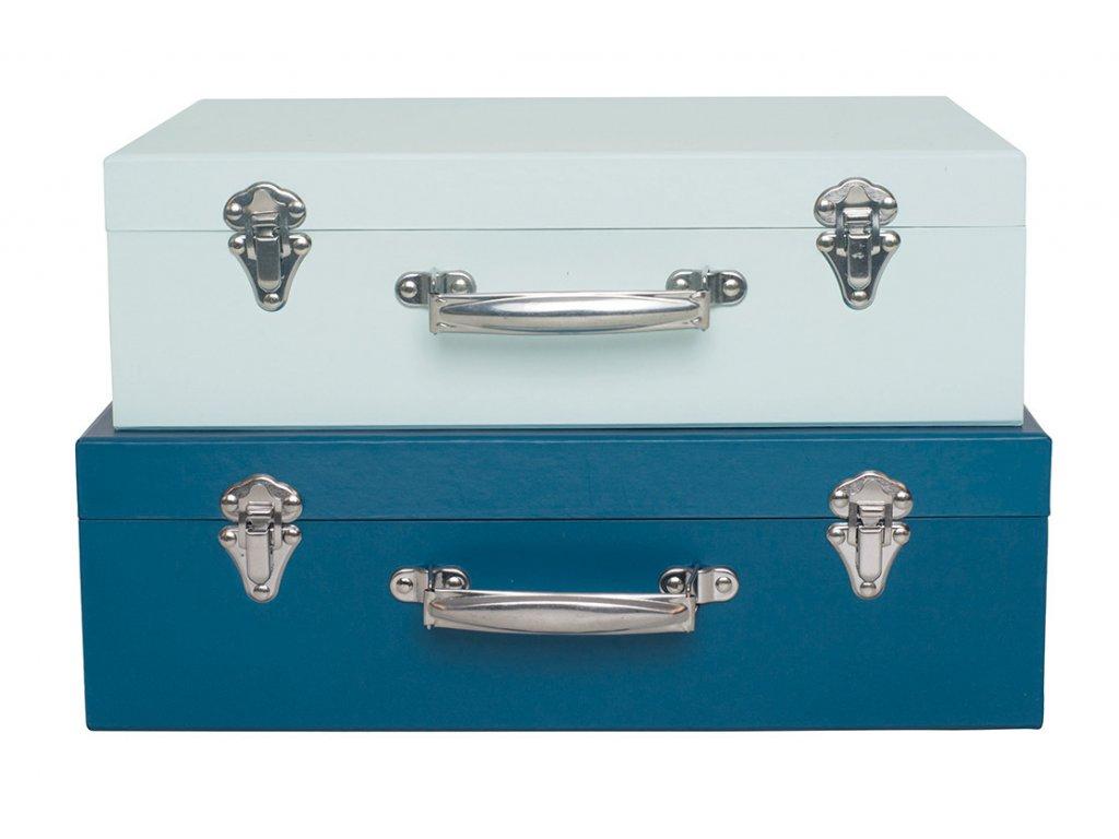 sada kufrů modrá