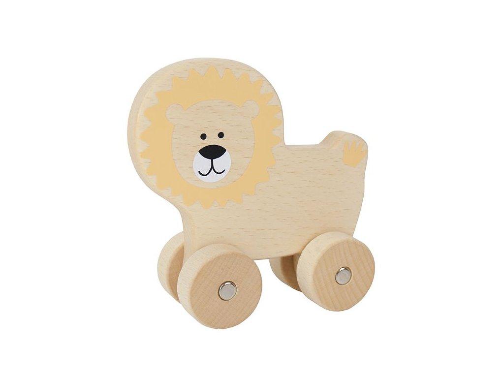 dřevěný lvíček na kolečkách
