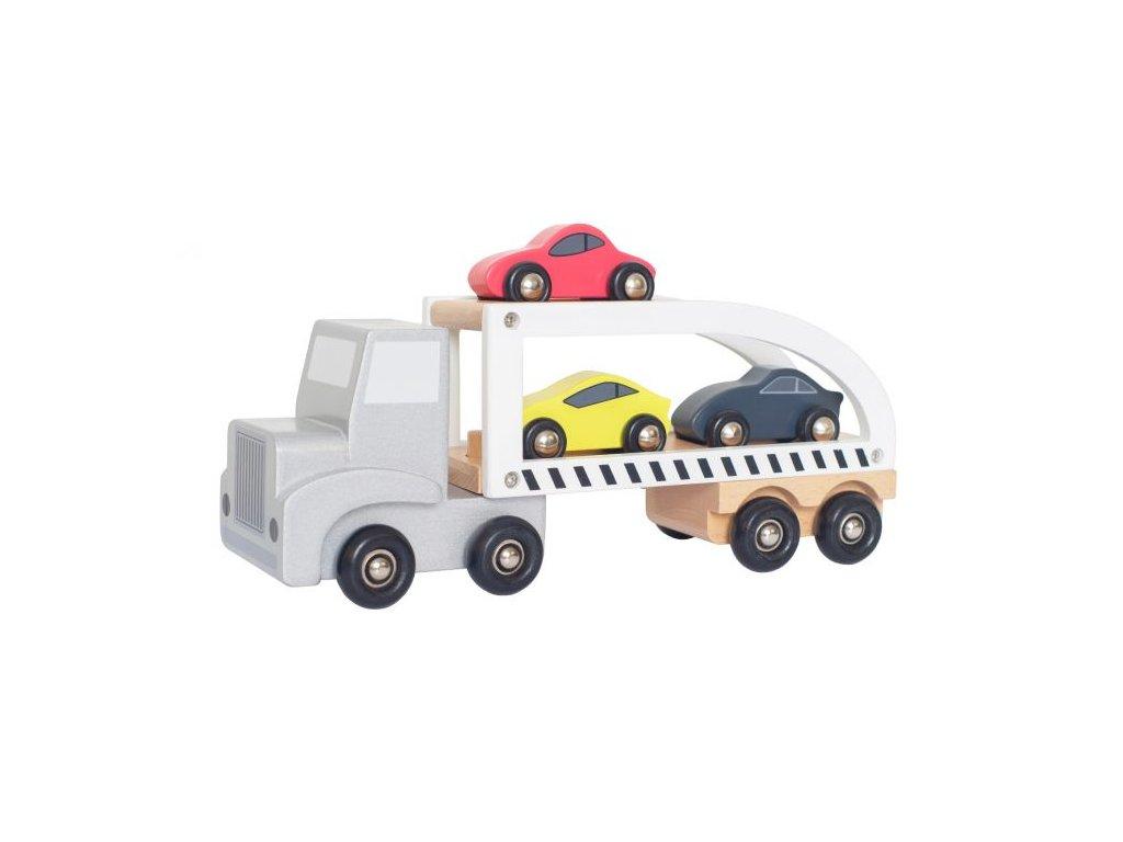Dřevěné přepravní auto