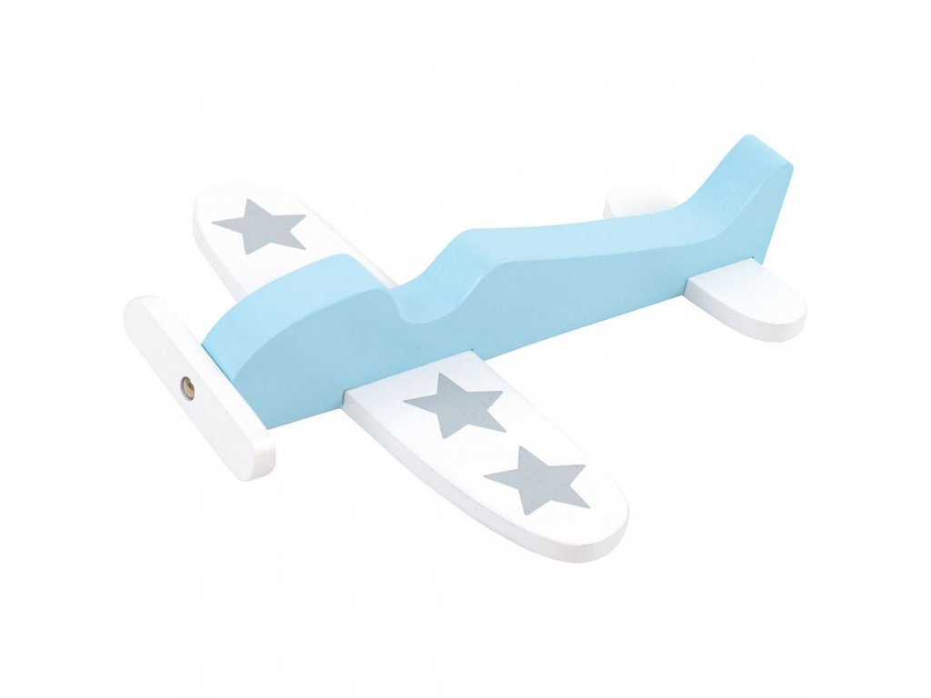 dřevěné letadýlko modré
