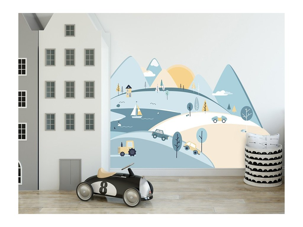 Nálepka na zeď barevné hory