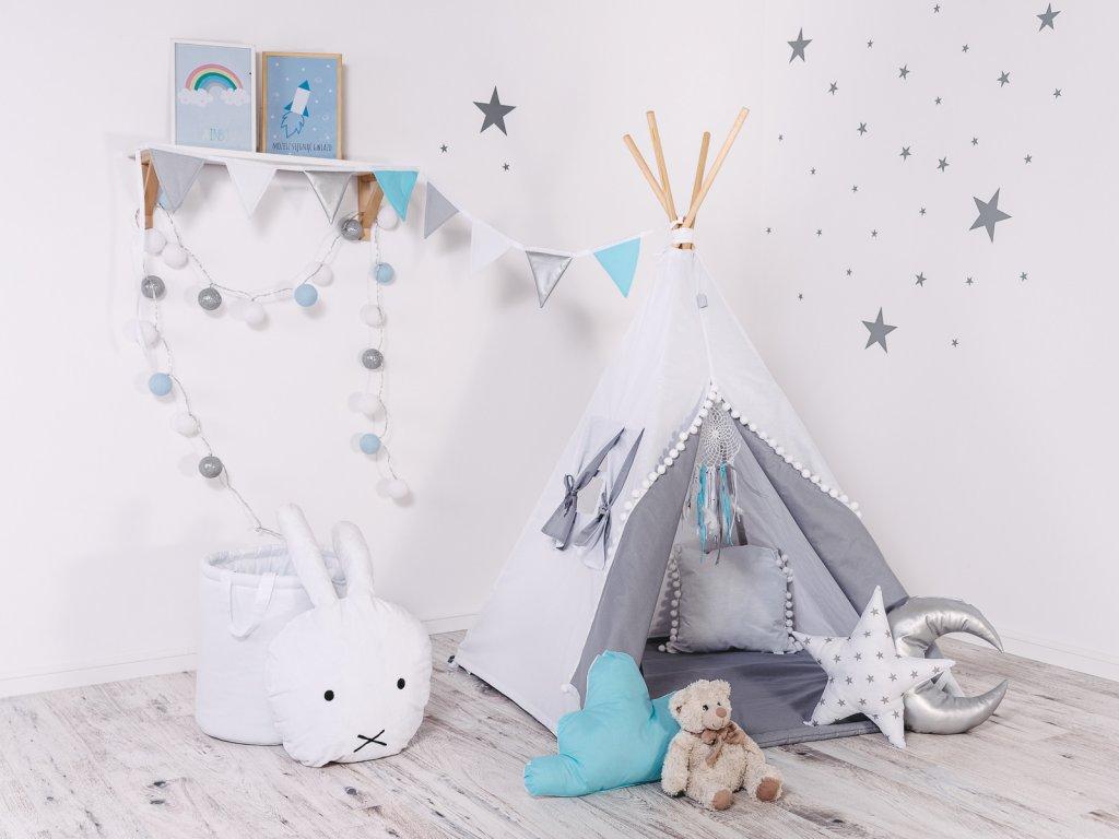 Dětský set teepee stan bílý andílek od ELIS DESIGN
