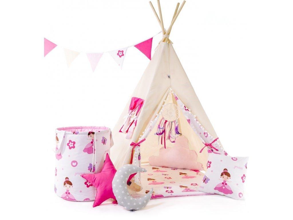 Set teepee stan pro holčičky a malé princezny od ELIS DESIGN