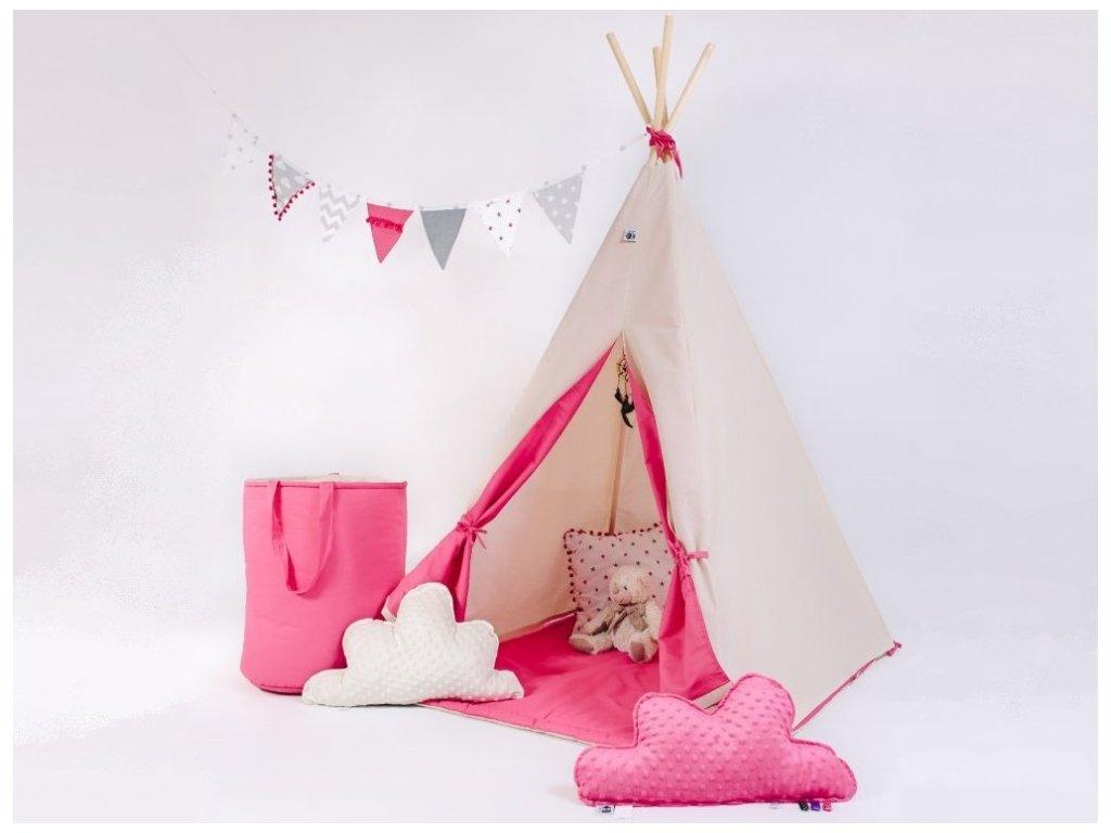 Holčičí teepee stan do dětského pokoje Malina od ELIS DESIGN
