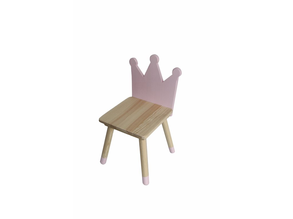 VÝPRODEJ Dětská židlička korunka