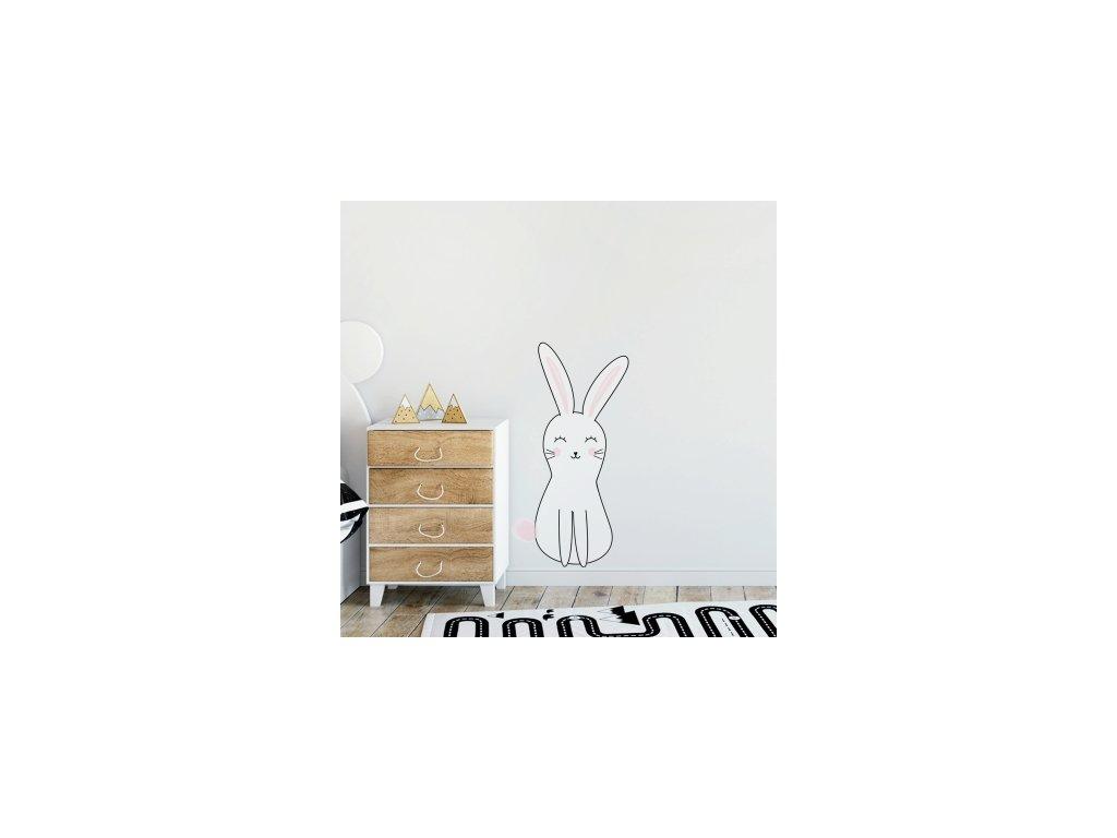 Nálepka na zeď barevné postavičky králíček