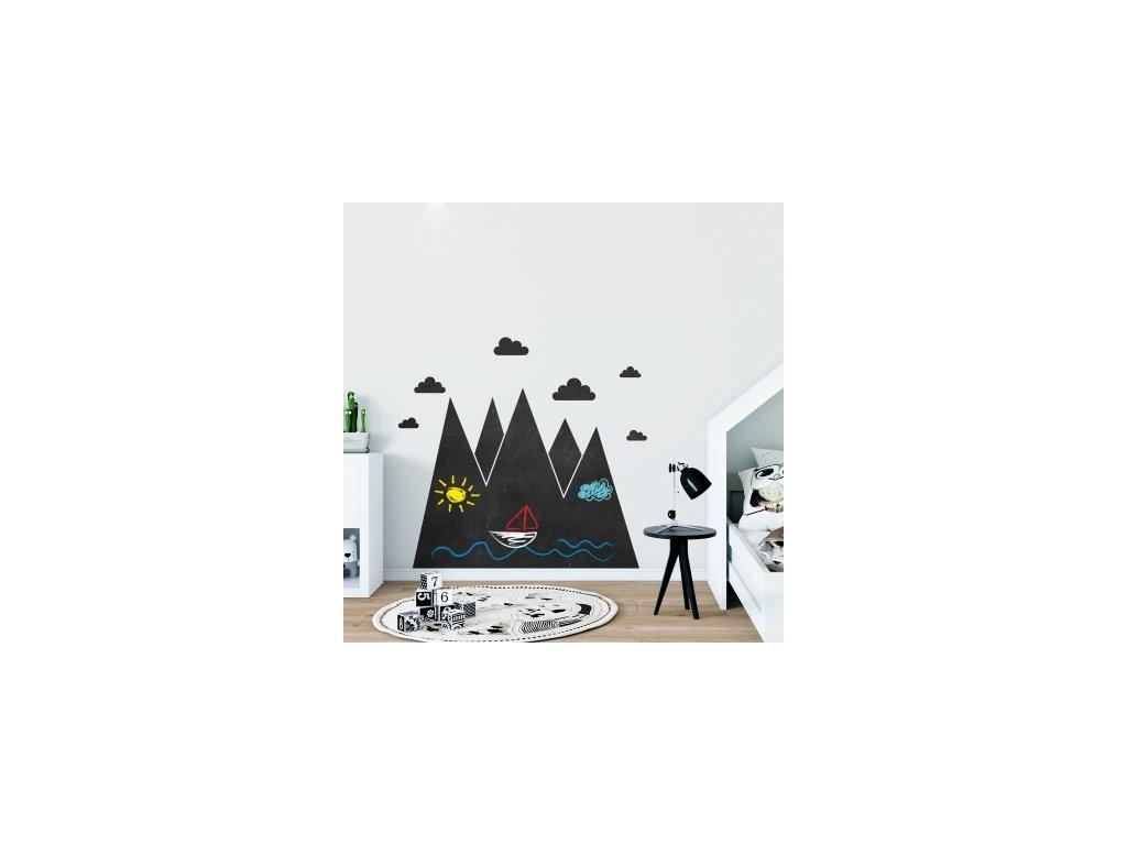 Nálepka na zeď tabule hory