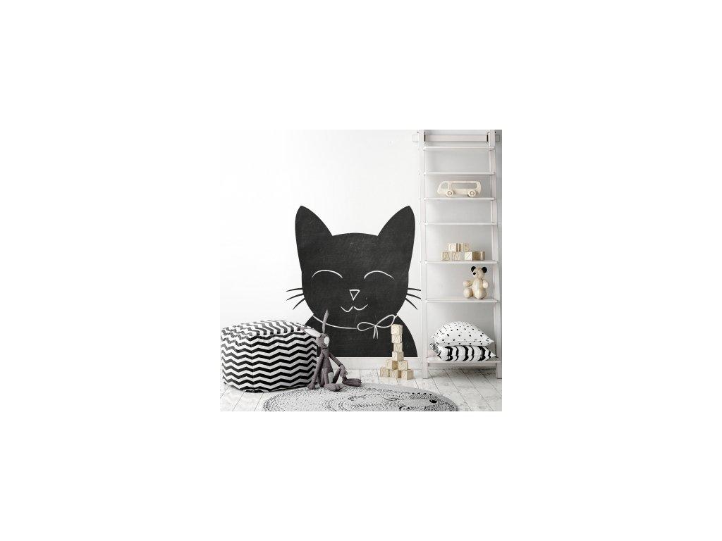 Nálepka na zeď tabule kočka