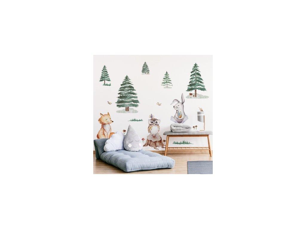 Nálepka na zeď zvířátka s liškou