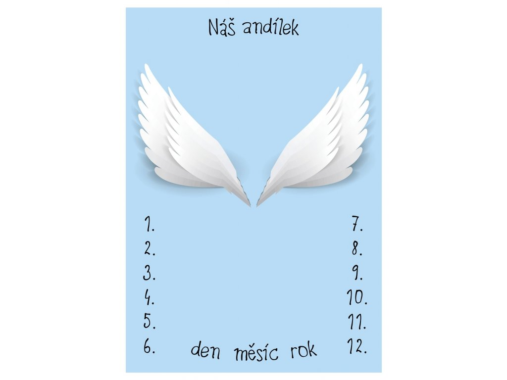 milnikova DEKA 41 náš andílek modráB
