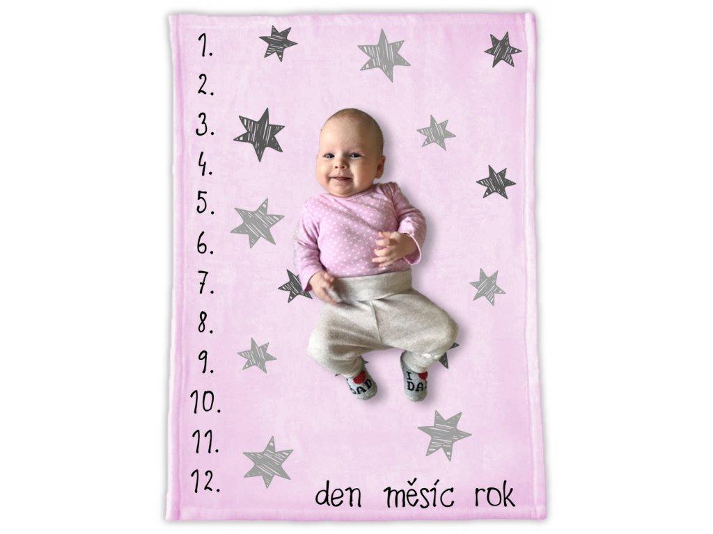 milnikova DEKA 35 stars pink