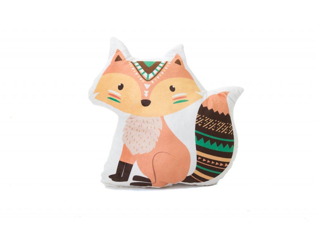 Designový polštářek ve tvaru zvířátka s potiskem bude dělat vašemu děťátku milou společnost v postýlce, kočárku i na cestách.