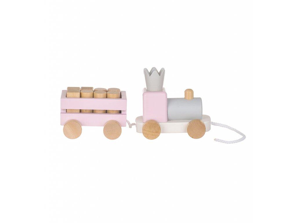 Dřevěné kvalitní hračky patří již po generace k nejoblíbenějším. Vláček z přírodních materiálů a v příjemných pastelových barvách není výjimkou.