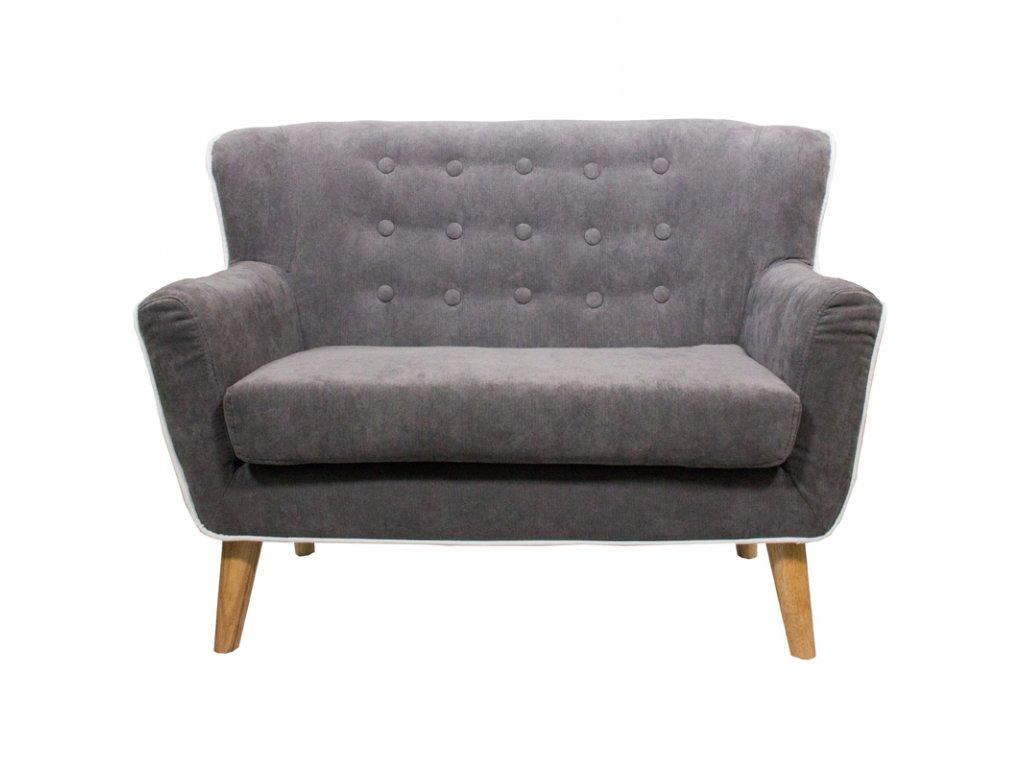 Stylový, elegantní bytový doplněk v šedé barvě podtrhne nadčasový design dětského pokojíku.Čalouněné sofa pro odpočinek i hru.