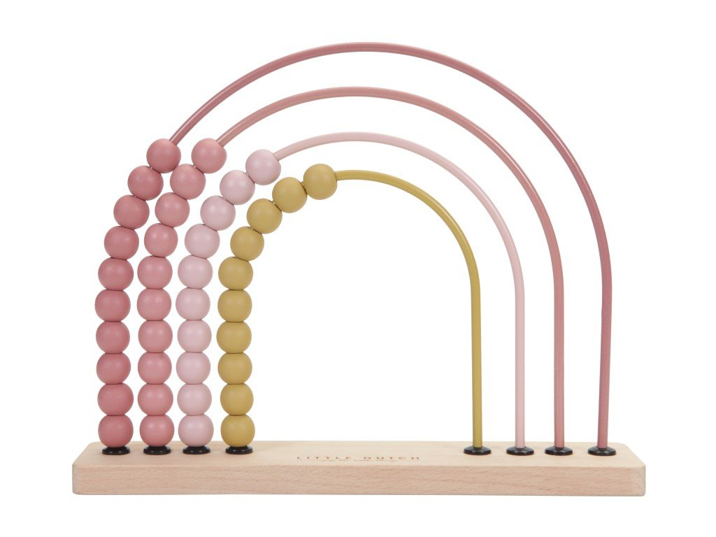 růžová varianta počítadla montessori