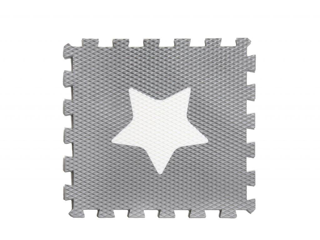 minideckfloor hvězda šedá s bílou