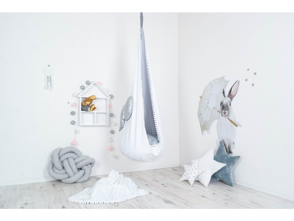 houpací vak stříbrný andílek