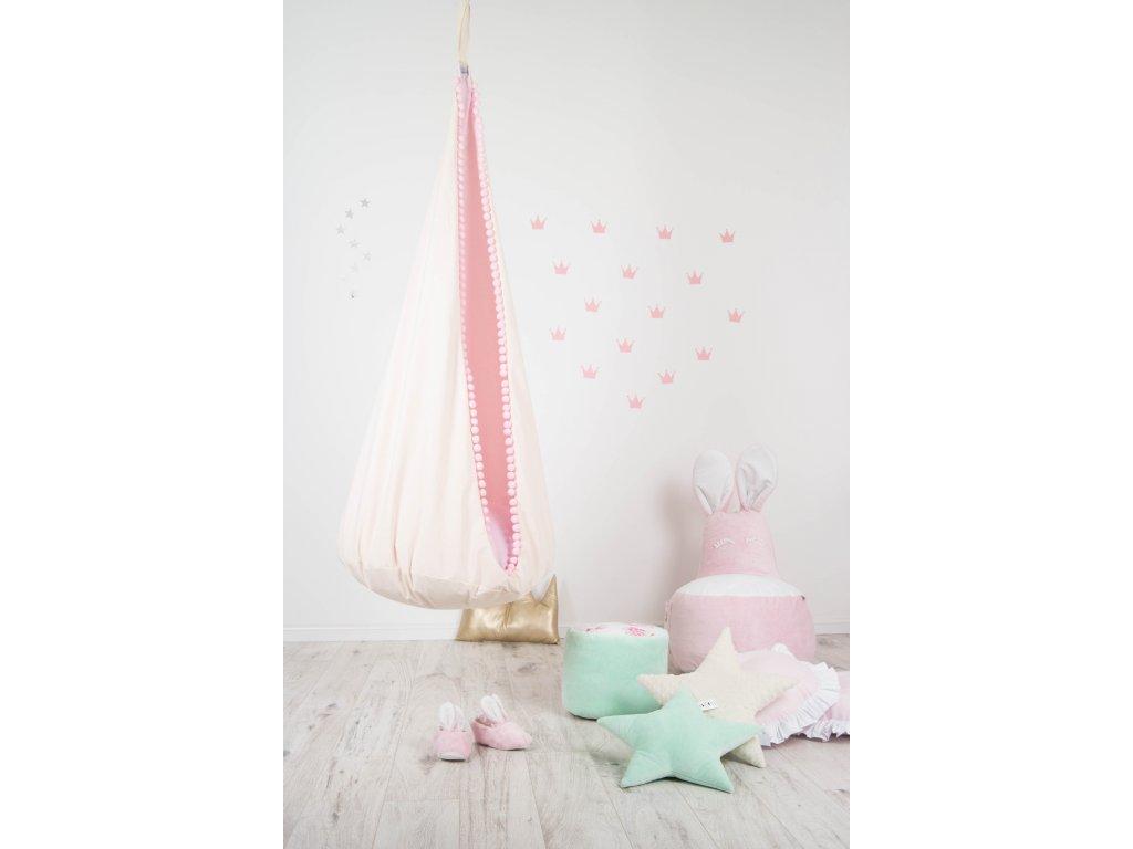 Houpací kokon růžový
