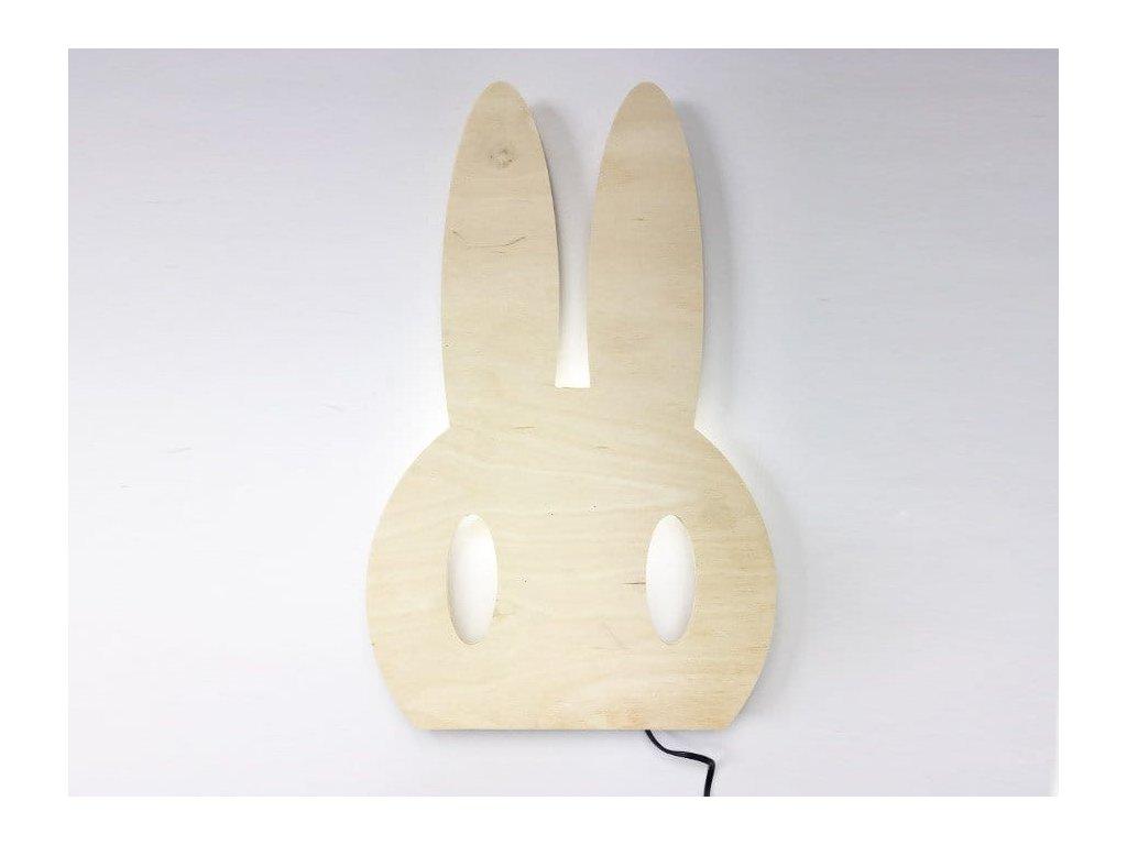 dřevěná lampička králík