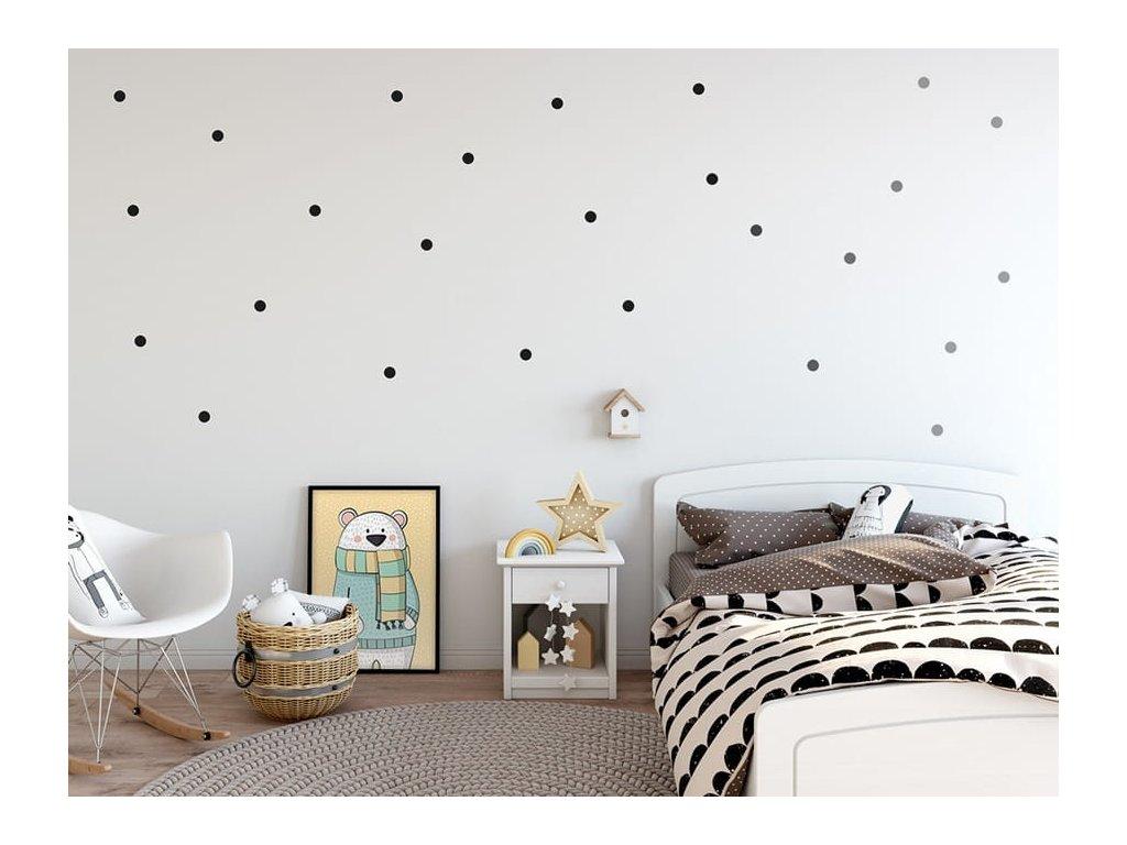 dekorace samolepky puntíky