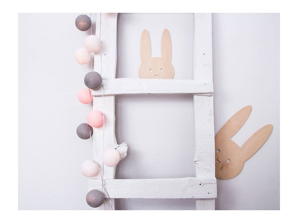 dekorace králík dřevěná