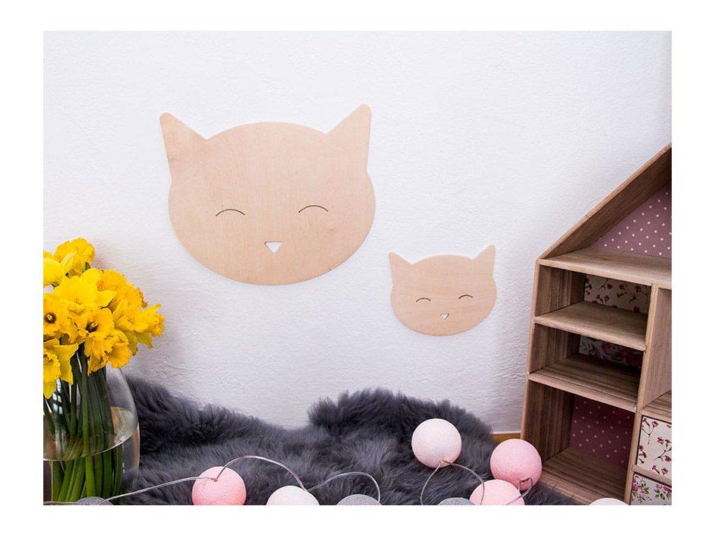 dřevěná dekorace koťátko velké