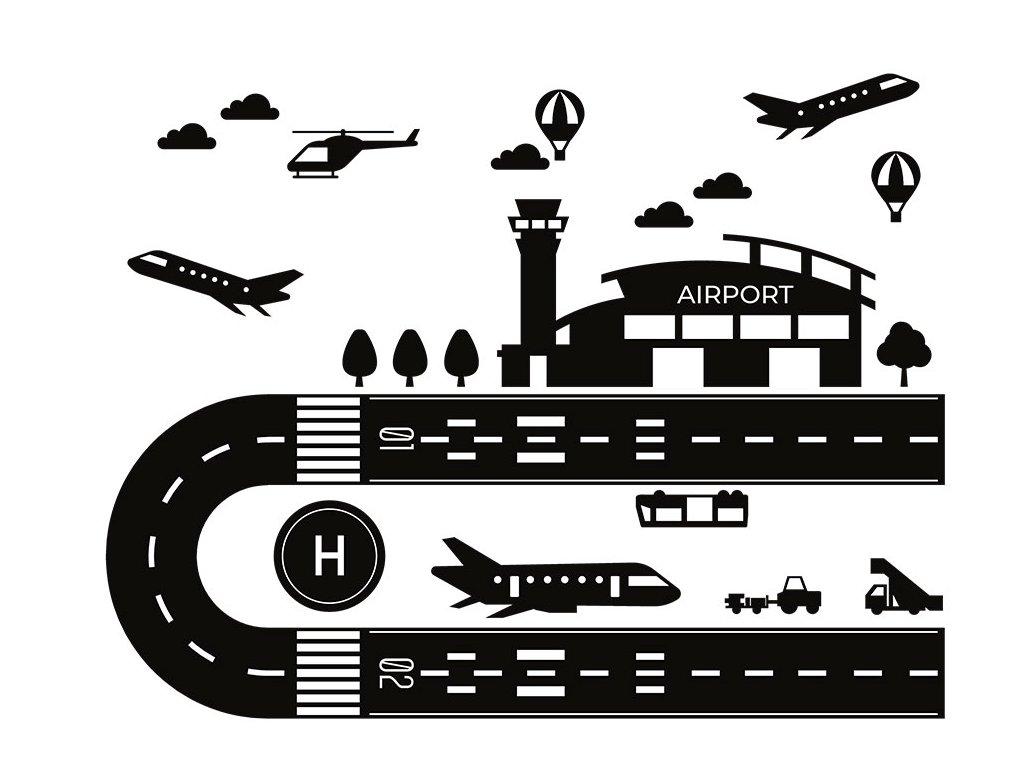 nálepka letiště