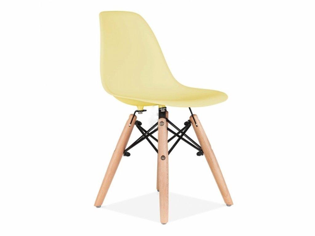 Židlička pro děti žlutá pastelová