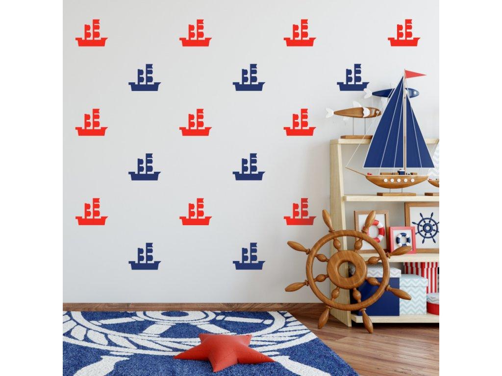 samolepky lodě