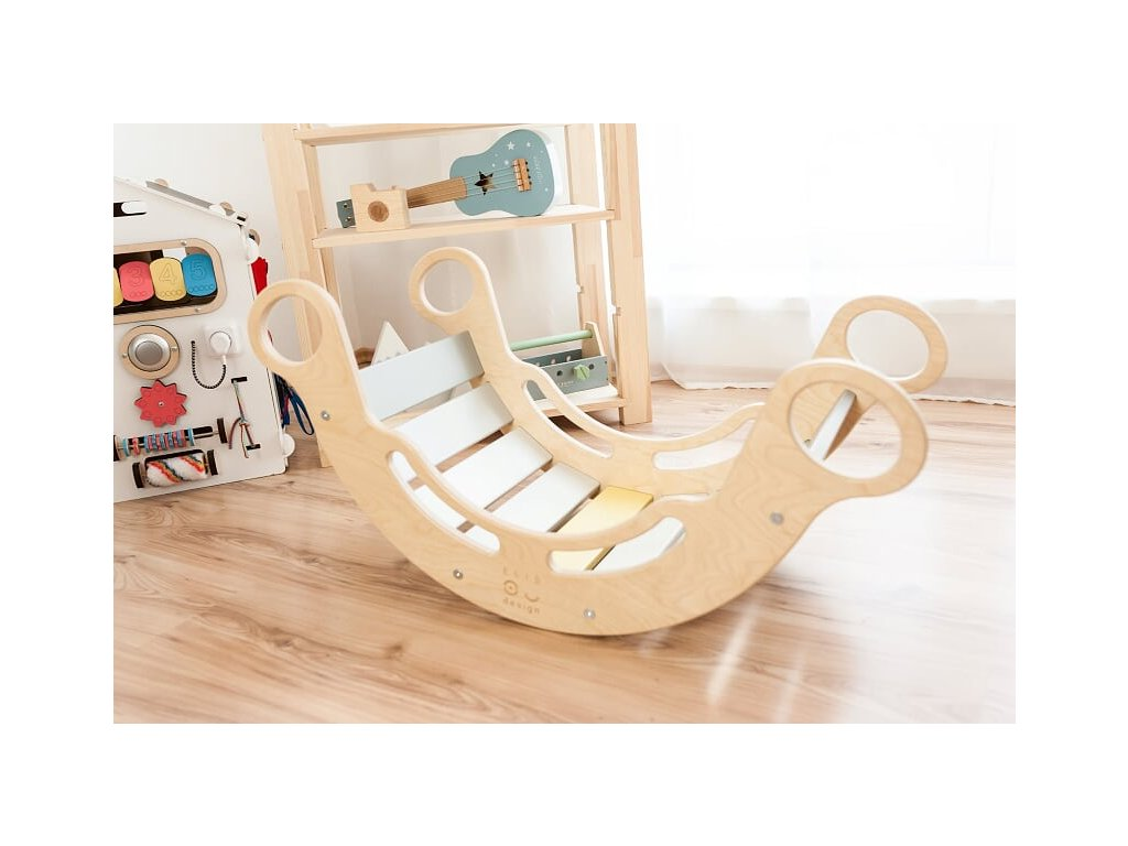 montessori rainbow kids rocker elisdesign