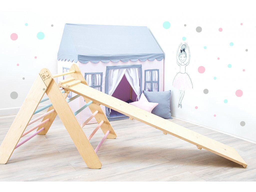 Montessori piklerové triangle skluzavka elisdesign