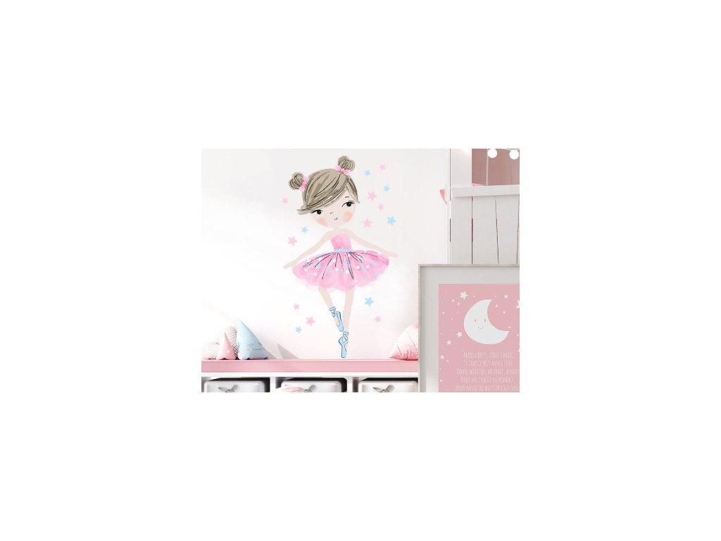 baletka růžová samolepka