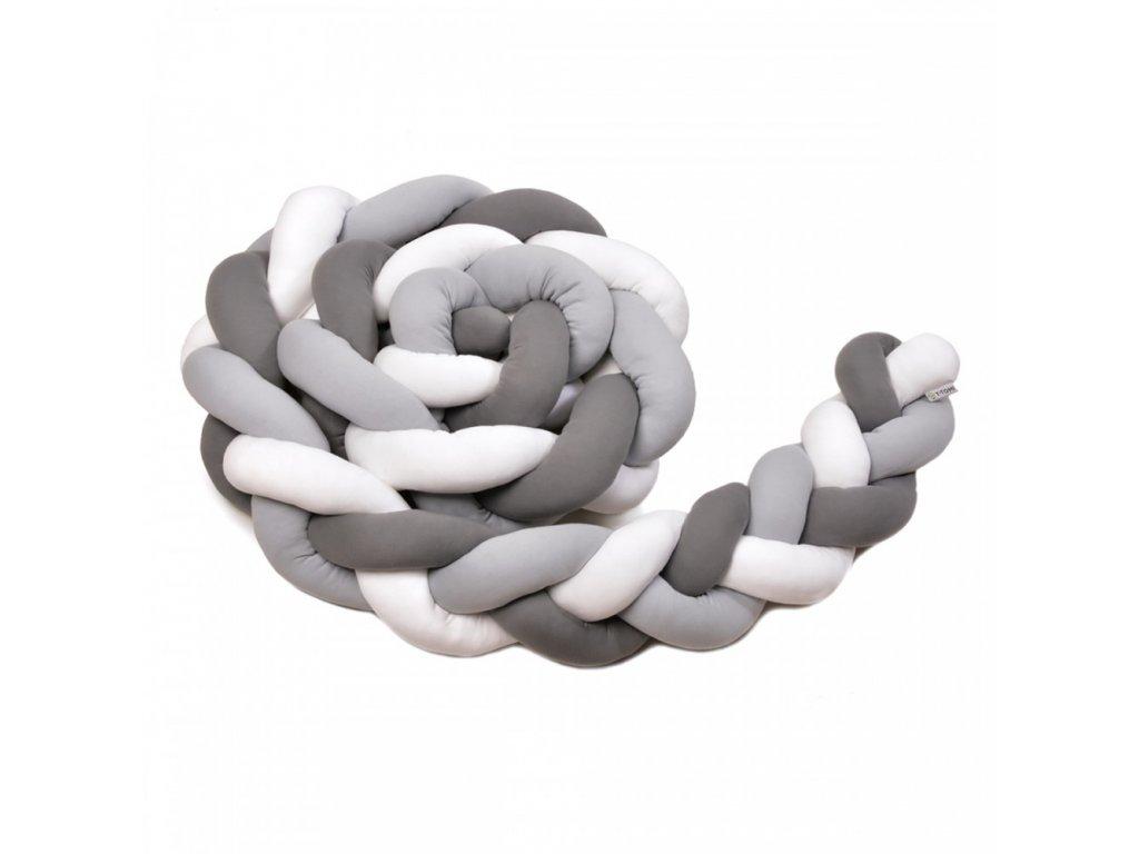 pletený mantinel bílá+šedá+antracid
