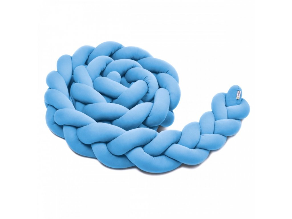 pletený mantinel modrý
