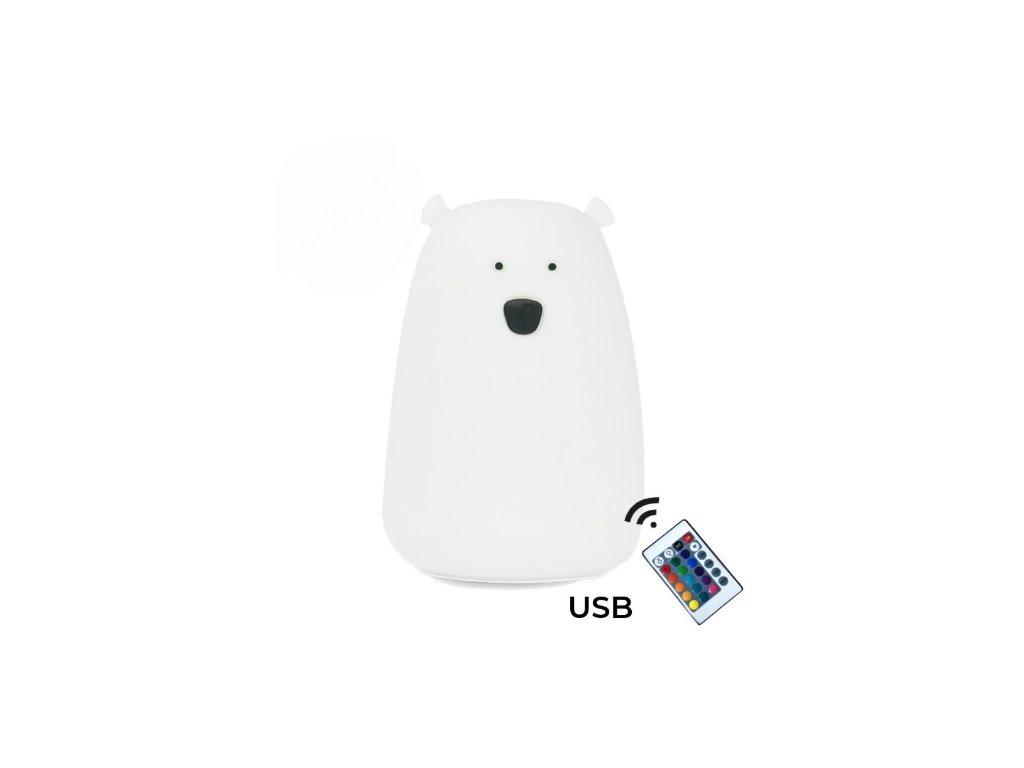 medvěd bílý s ovladačem