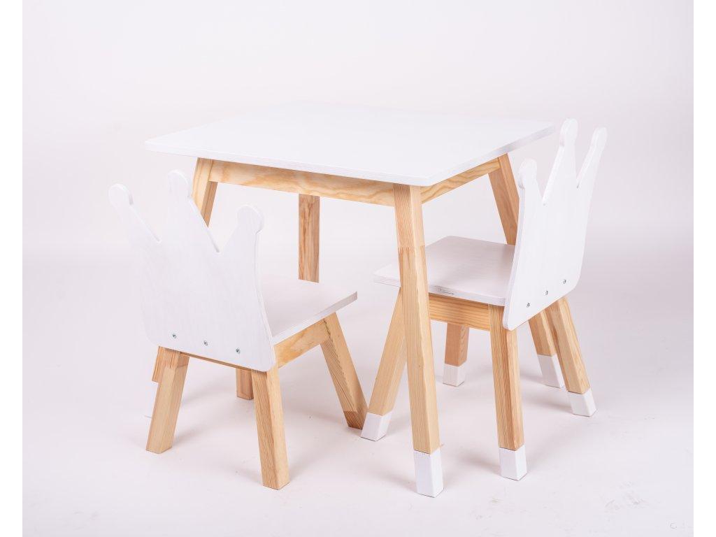 Sada židličky a stolek rostoucí