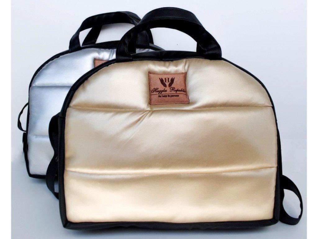 Kvalitní kožená přebalovací taška se zlatou nebo stříbrnou barvou