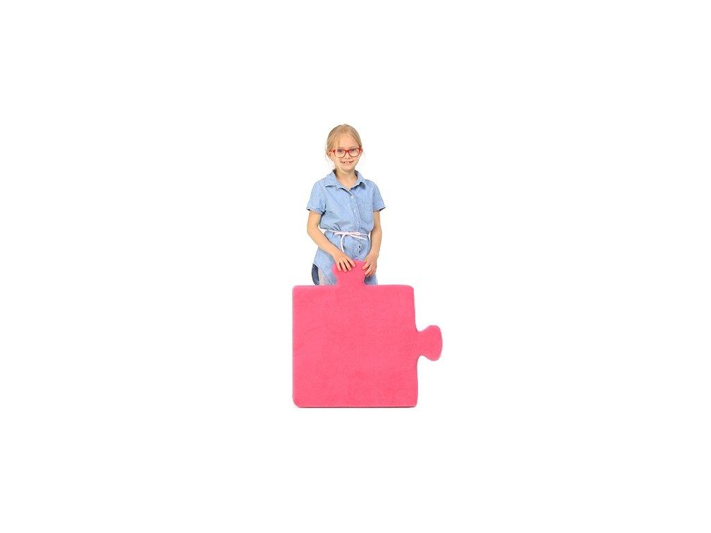 puzzle růžová